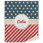 Stars and Stripes Sherpa Throw Blanket (Personalized)