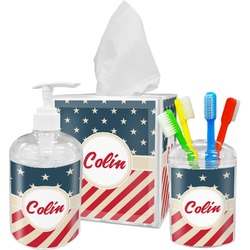 Stars and Stripes Bathroom Accessories Set (Personalized)
