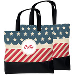 Stars and Stripes Beach Tote Bag (Personalized)
