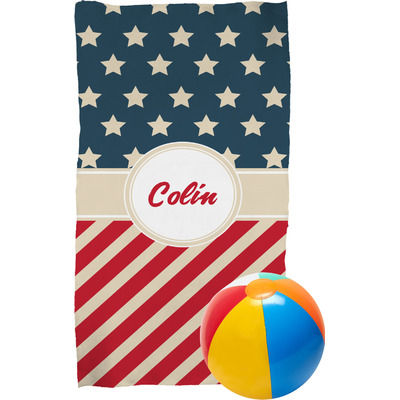Stars and Stripes Beach Towel (Personalized)