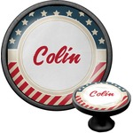 Stars and Stripes Cabinet Knob (Black) (Personalized)