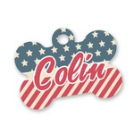 Stars and Stripes Bone Shaped Dog Tag (Personalized)