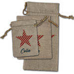 Stars and Stripes Burlap Gift Bags (Personalized)