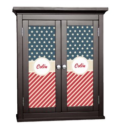 Stars and Stripes Cabinet Decal - XLarge (Personalized)