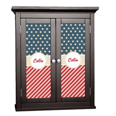 Stars and Stripes Cabinet Decal - Custom Size (Personalized)