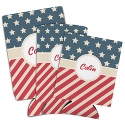 Stars and Stripes Can Cooler (Personalized)