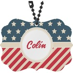 Stars and Stripes Rear View Mirror Charm (Personalized)