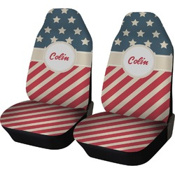 Stars and Stripes Car Seat Covers (Set of Two) (Personalized)