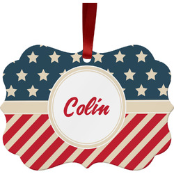 Stars and Stripes Ornament (Personalized)