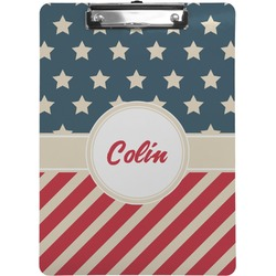 Stars and Stripes Clipboard (Personalized)