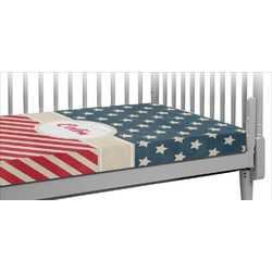 Stars and Stripes Crib Fitted Sheet (Personalized)