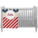 Stars and Stripes Crib Comforter / Quilt (Personalized)