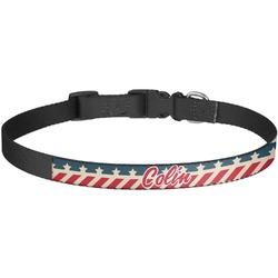 Stars and Stripes Dog Collar - Large (Personalized)