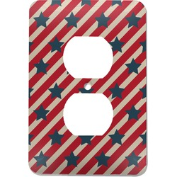 Stars and Stripes Electric Outlet Plate (Personalized)