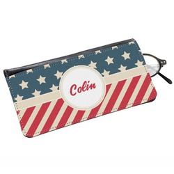 Stars and Stripes Genuine Leather Eyeglass Case (Personalized)