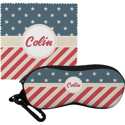 Stars and Stripes Eyeglass Case & Cloth (Personalized)