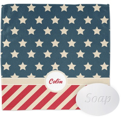 Stars and Stripes Wash Cloth (Personalized)