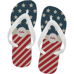 Stars and Stripes Flip Flops (Personalized)