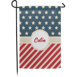 Stars and Stripes Single Sided Garden Flag (Personalized)