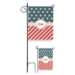 Stars and Stripes Garden Flag (Personalized)