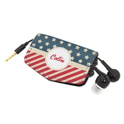 Stars and Stripes Genuine Leather Cord Wrap (Personalized)