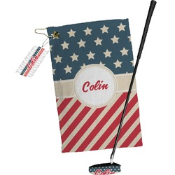 Stars and Stripes Golf Towel Gift Set (Personalized)