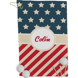 Stars and Stripes Golf Towel - Full Print (Personalized)