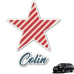 Stars and Stripes Graphic Car Decal (Personalized)