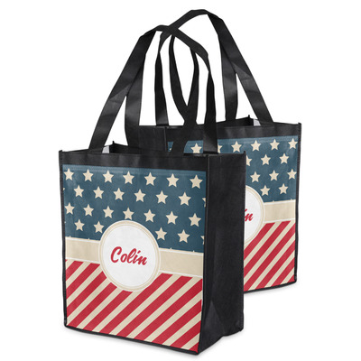 Stars and Stripes Grocery Bag (Personalized)