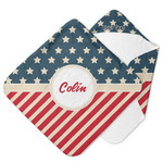Stars and Stripes Hooded Baby Towel (Personalized)