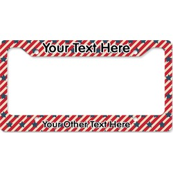 Stars and Stripes License Plate Frame - Style B (Personalized)