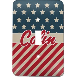 Stars and Stripes Light Switch Cover (Single Toggle) (Personalized)