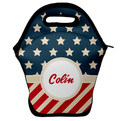 Stars and Stripes Lunch Bag w/ Name or Text