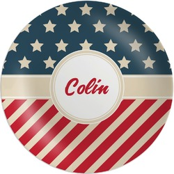 Stars and Stripes Melamine Plate (Personalized)