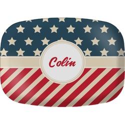 Stars and Stripes Melamine Platter (Personalized)