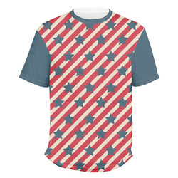 Stars and Stripes Men's Crew T-Shirt (Personalized)