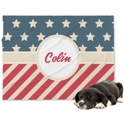 Stars and Stripes Minky Dog Blanket (Personalized)