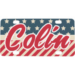 Stars and Stripes Mini / Bicycle License Plate (4 Holes) (Personalized)