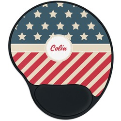 Stars and Stripes Mouse Pad with Wrist Support