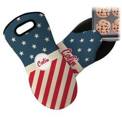 Stars and Stripes Neoprene Oven Mitt (Personalized)