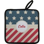 Stars and Stripes Pot Holder (Personalized)