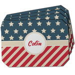 Stars and Stripes Dining Table Mat - Octagon w/ Name or Text