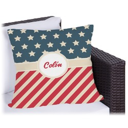 "Stars and Stripes Outdoor Pillow - 20"" (Personalized)"