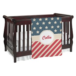 Stars and Stripes Baby Blanket (Personalized)