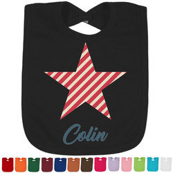 Stars and Stripes Baby Bib - 14 Bib Colors (Personalized)