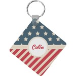 Stars and Stripes Diamond Key Chain (Personalized)