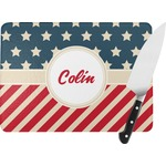 Stars and Stripes Rectangular Glass Cutting Board (Personalized)
