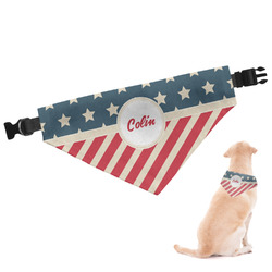 Stars and Stripes Dog Bandana (Personalized)