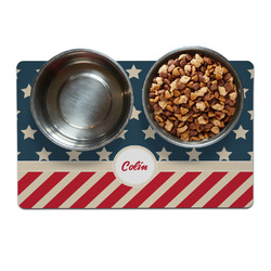 Stars and Stripes Dog Food Mat (Personalized)