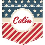 Stars and Stripes Iron On Faux Pocket (Personalized)